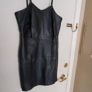 Jamin Leather Dresses - Jamin leather dress